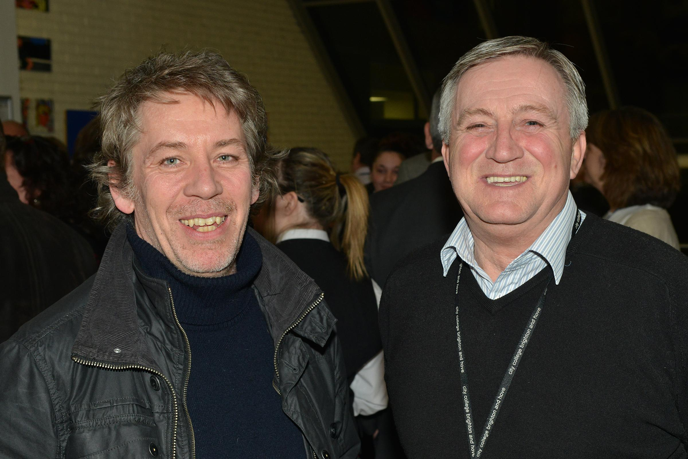 Tom Dowds (right) with Paul Brewster