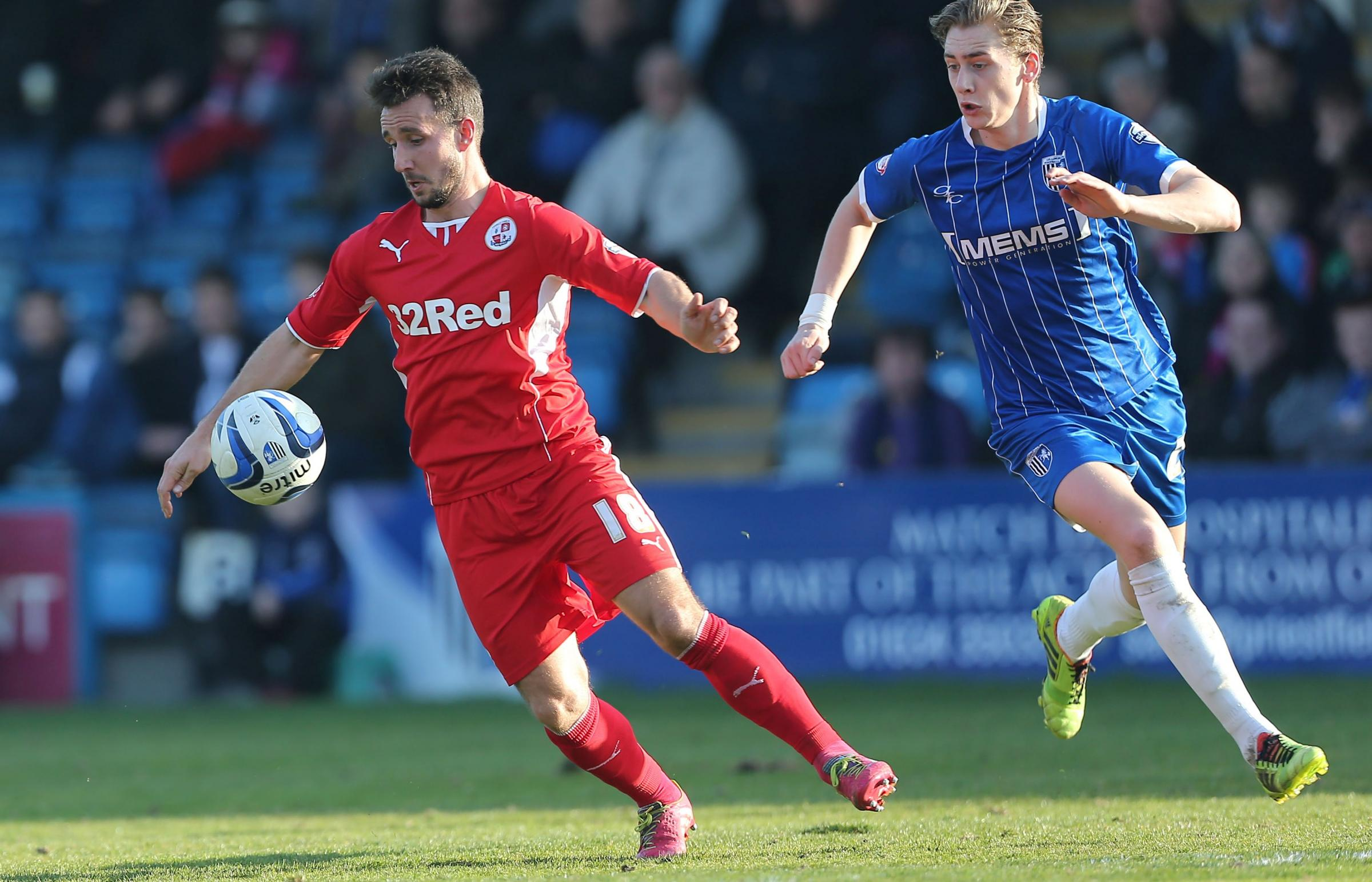 Matt Tubbs on the ball for Reds