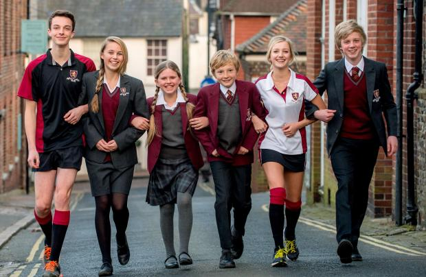 The Argus: The distinctive maroon Lewes Old Grammar uniform. Picture by www.jimholden.co.uk