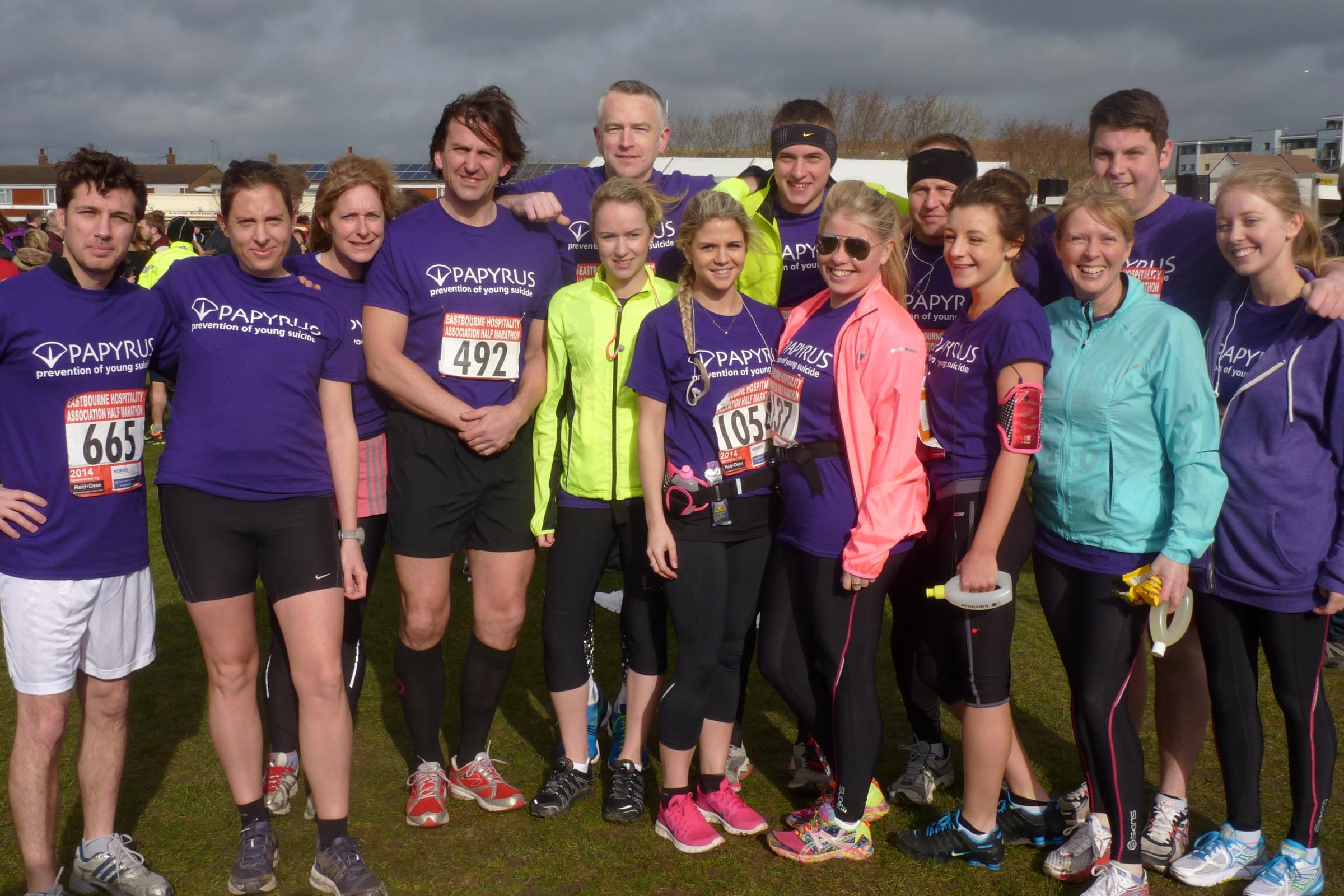 Teachers and past students run for Eastbourne former pupil