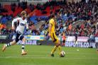 Will Buckley scores his second against Bolton