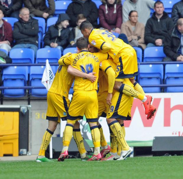 Jake Forster-Caskey joins in the celebrations