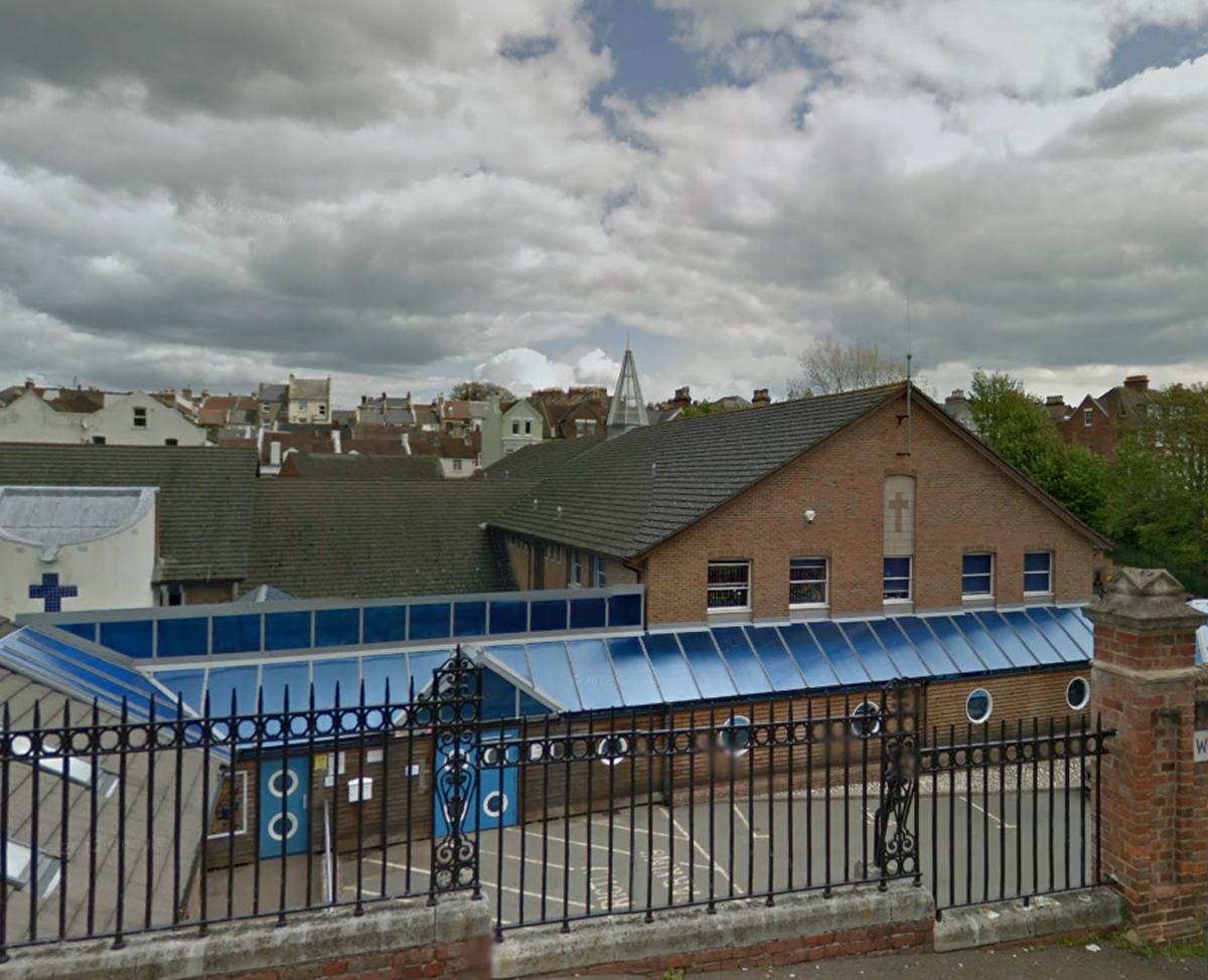 Christ Church Primary School. Picture taken from Google Streetview