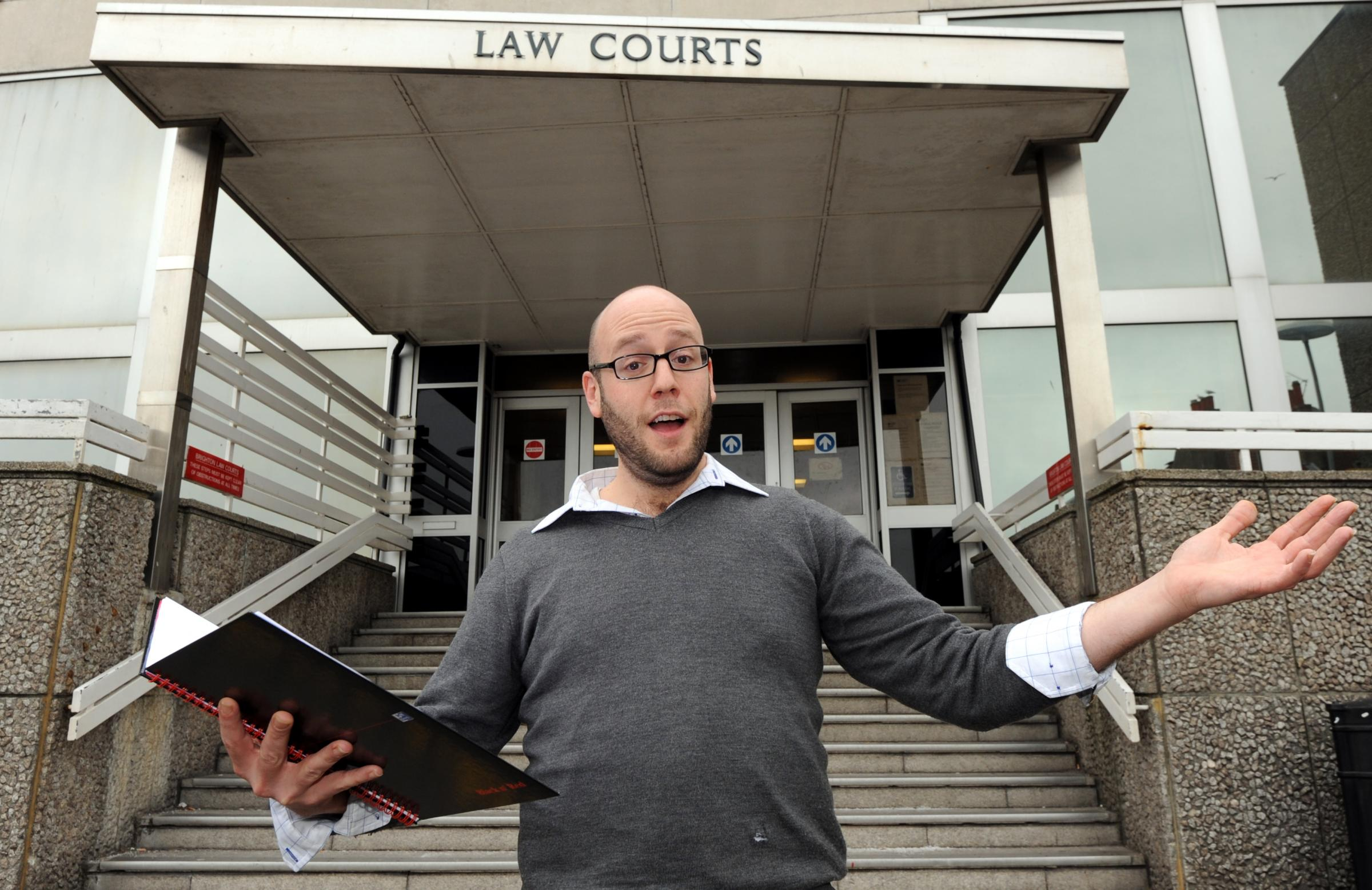 Balcombe poet reads his rhyme in defence of his alleged crime