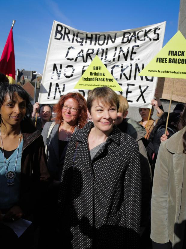 The Argus: Caroline Lucas set to appear in court today over fracking protest