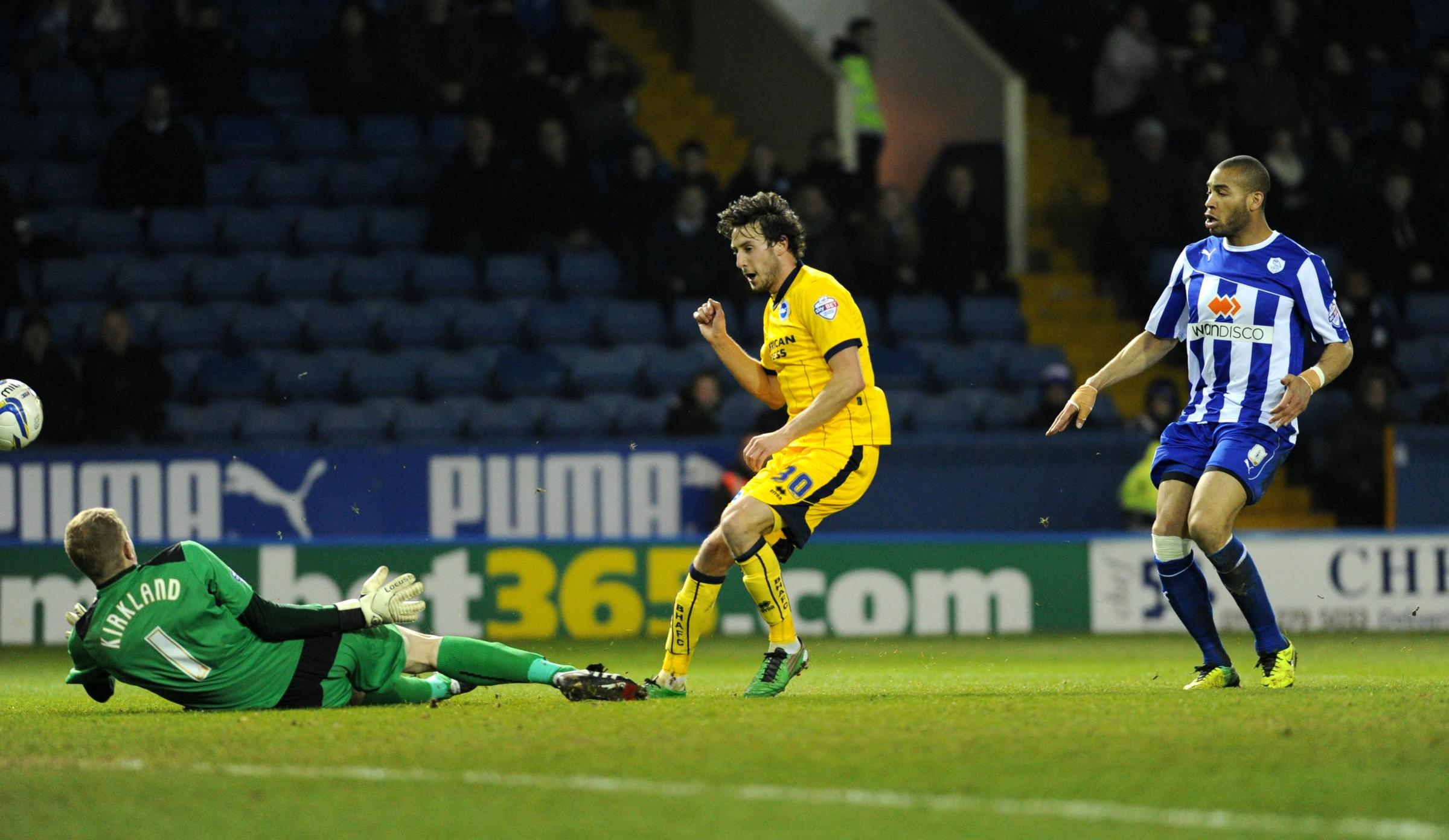 Will Buckley is denied as Albion drew a blank at Wednesday