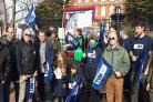 The picket line at BHASVIC