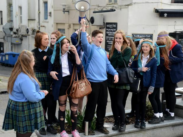 "The Argus: More than 100 Brighton school children go on ""strike"" over proposed changes to education"