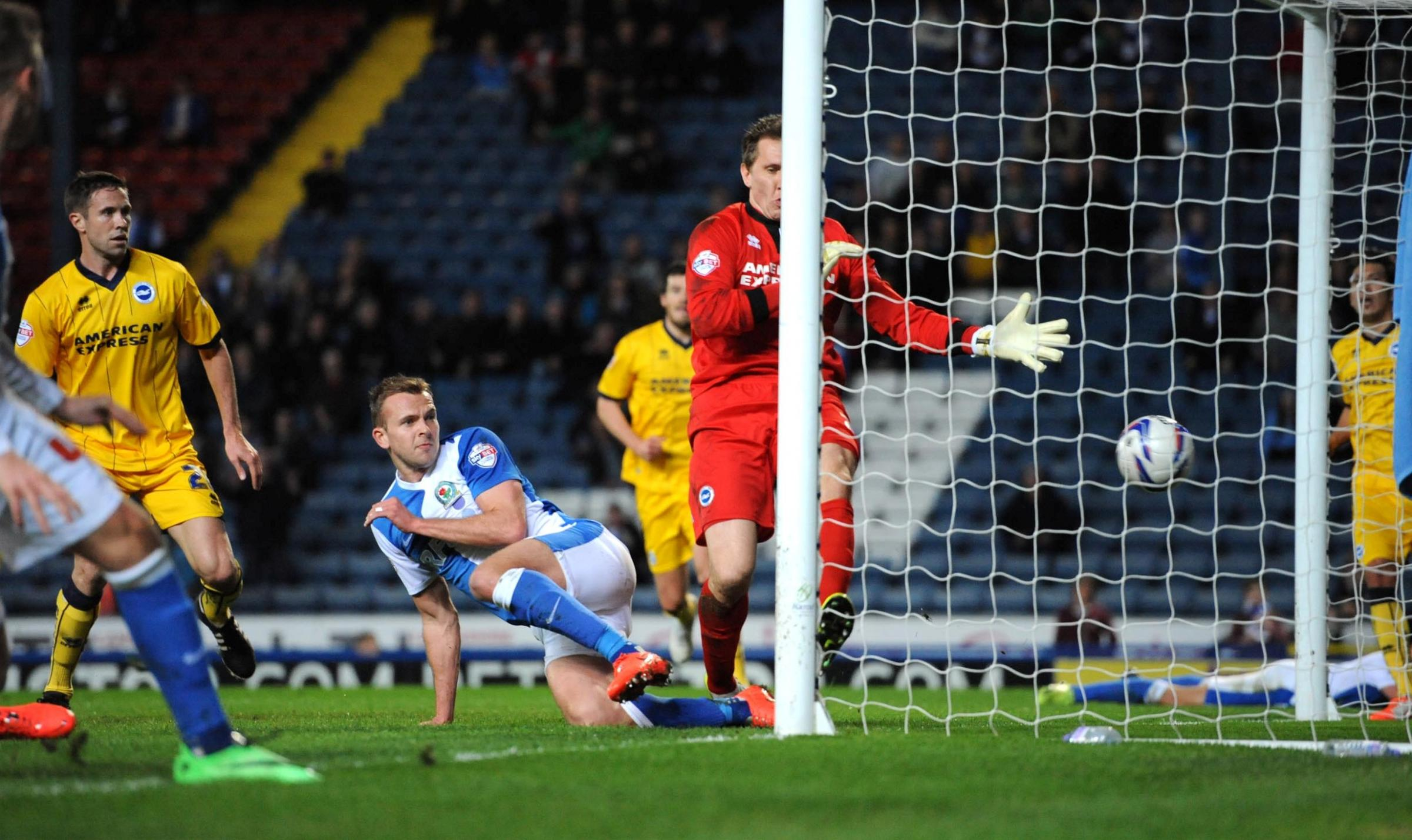 Tomasz Kuszczak concedes as Rovers go 2-1 up