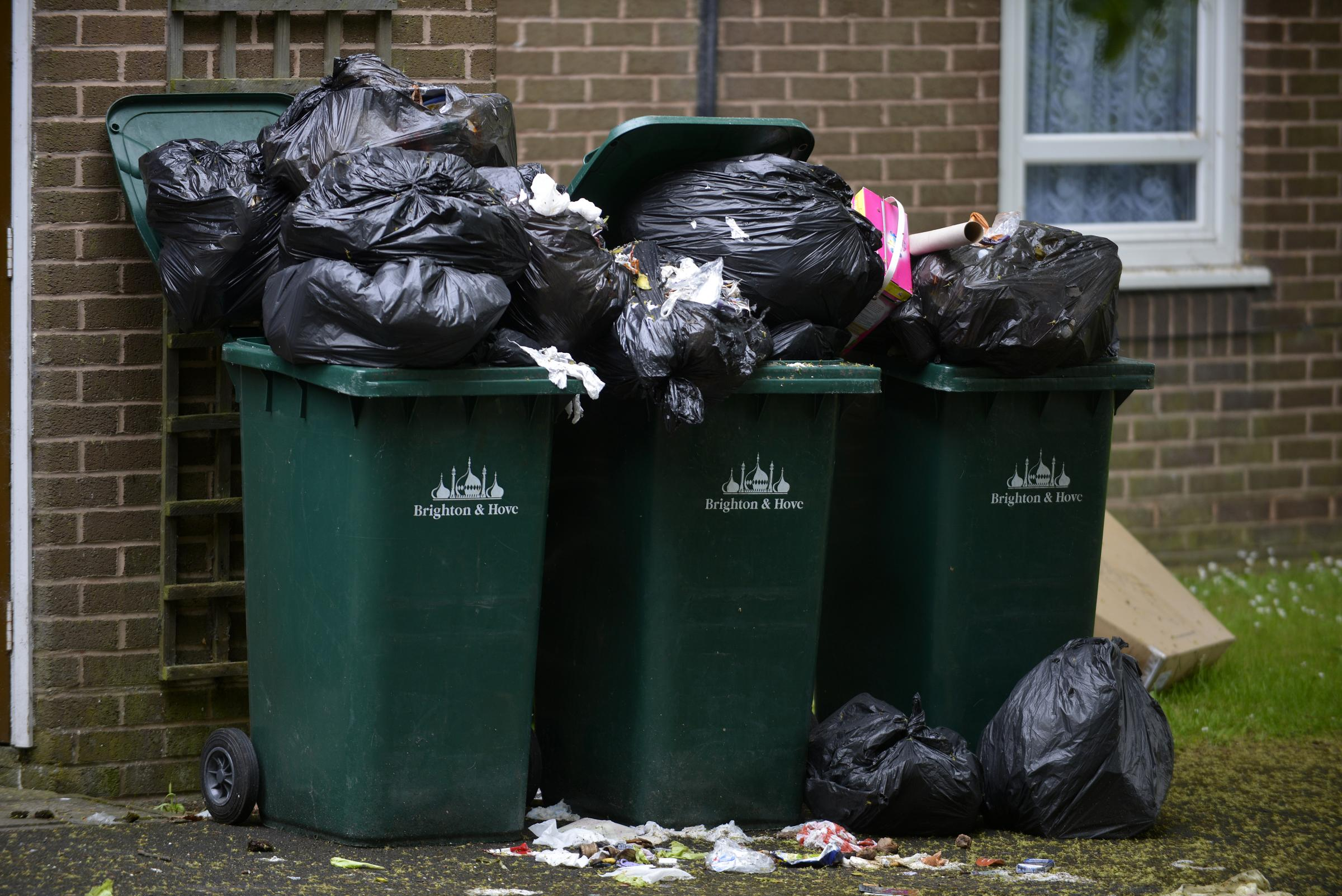 Last year's bin strike saw the streets strewn with rubbish