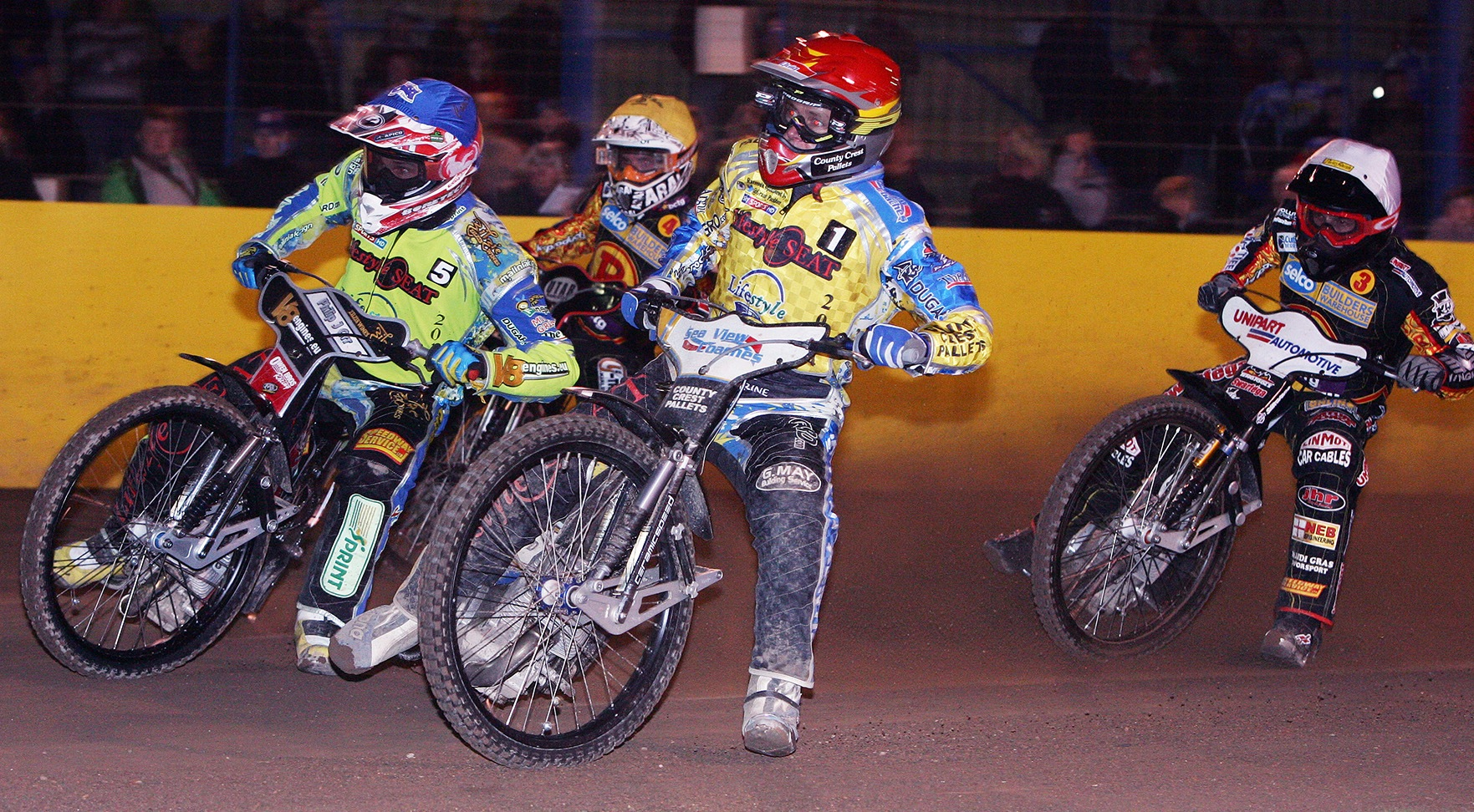 Bjarne Pedersen (red) out in front against Birmingham last week. Picture by Mike Hinves