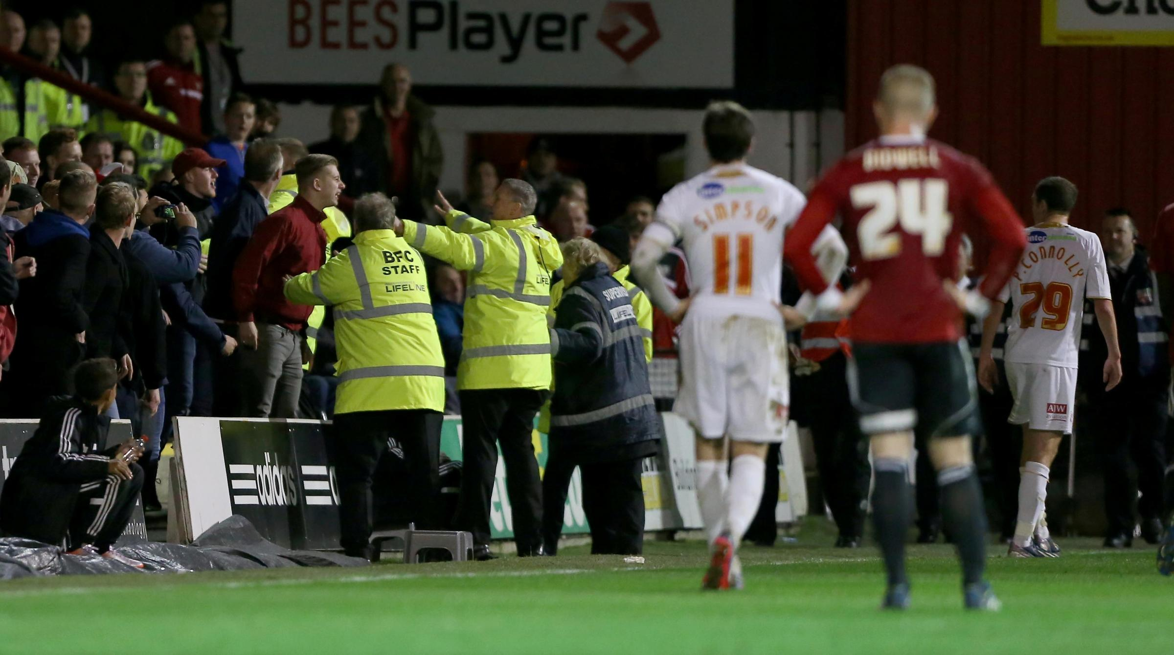 Fans react to the Paul Connolly incident at Griffin Park last night