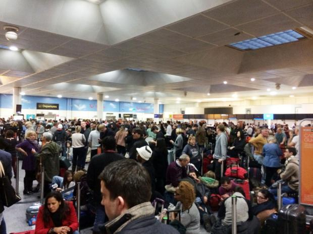 The Argus: More than 11,000 travellers were affected by delays and cancellations on December 24 (Pic: PA)