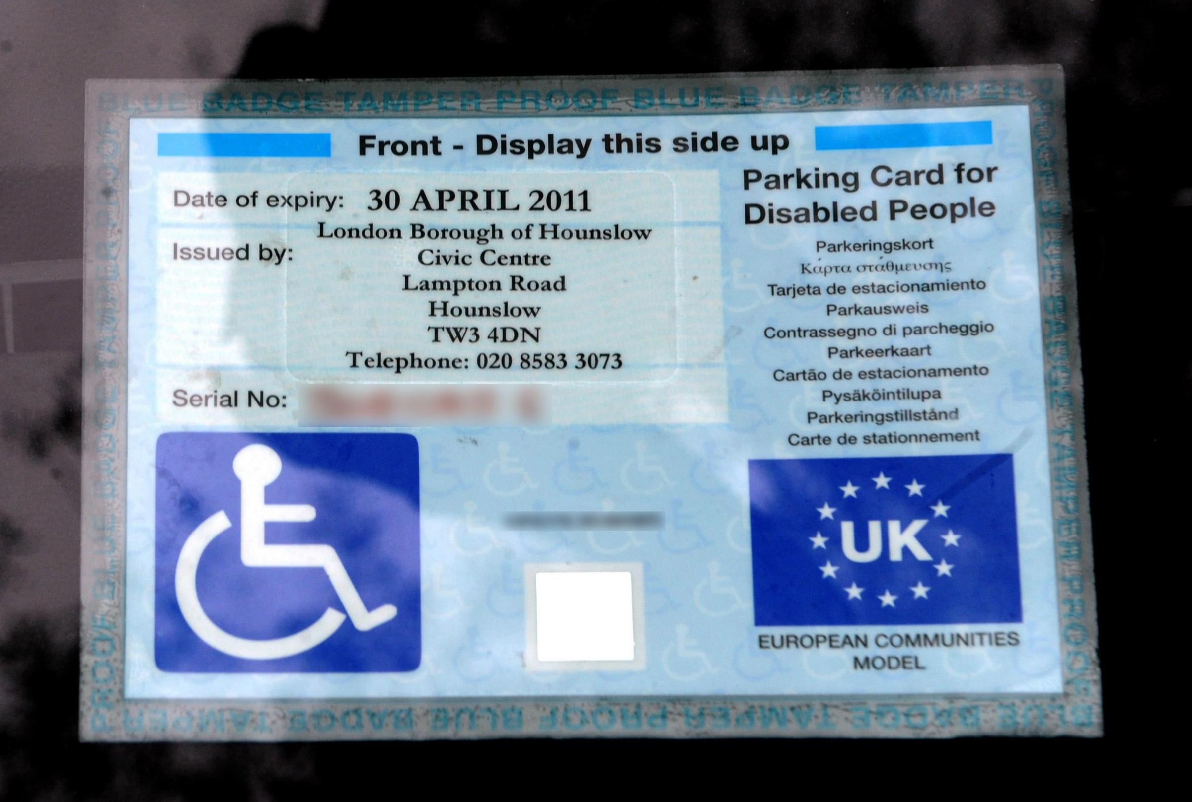 Fraudsters use blue badges belonging to dead