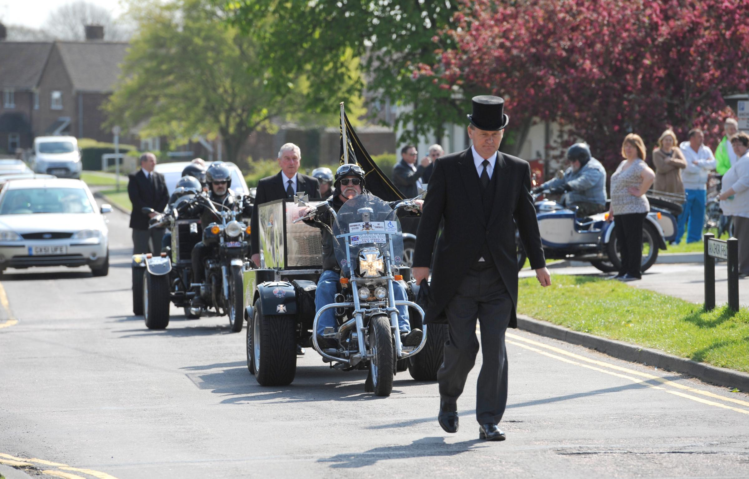 VIDEO: Biker given one last journey for funeral
