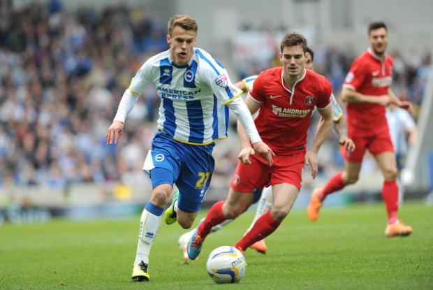 The Argus: Solly March on the ball against Charlton