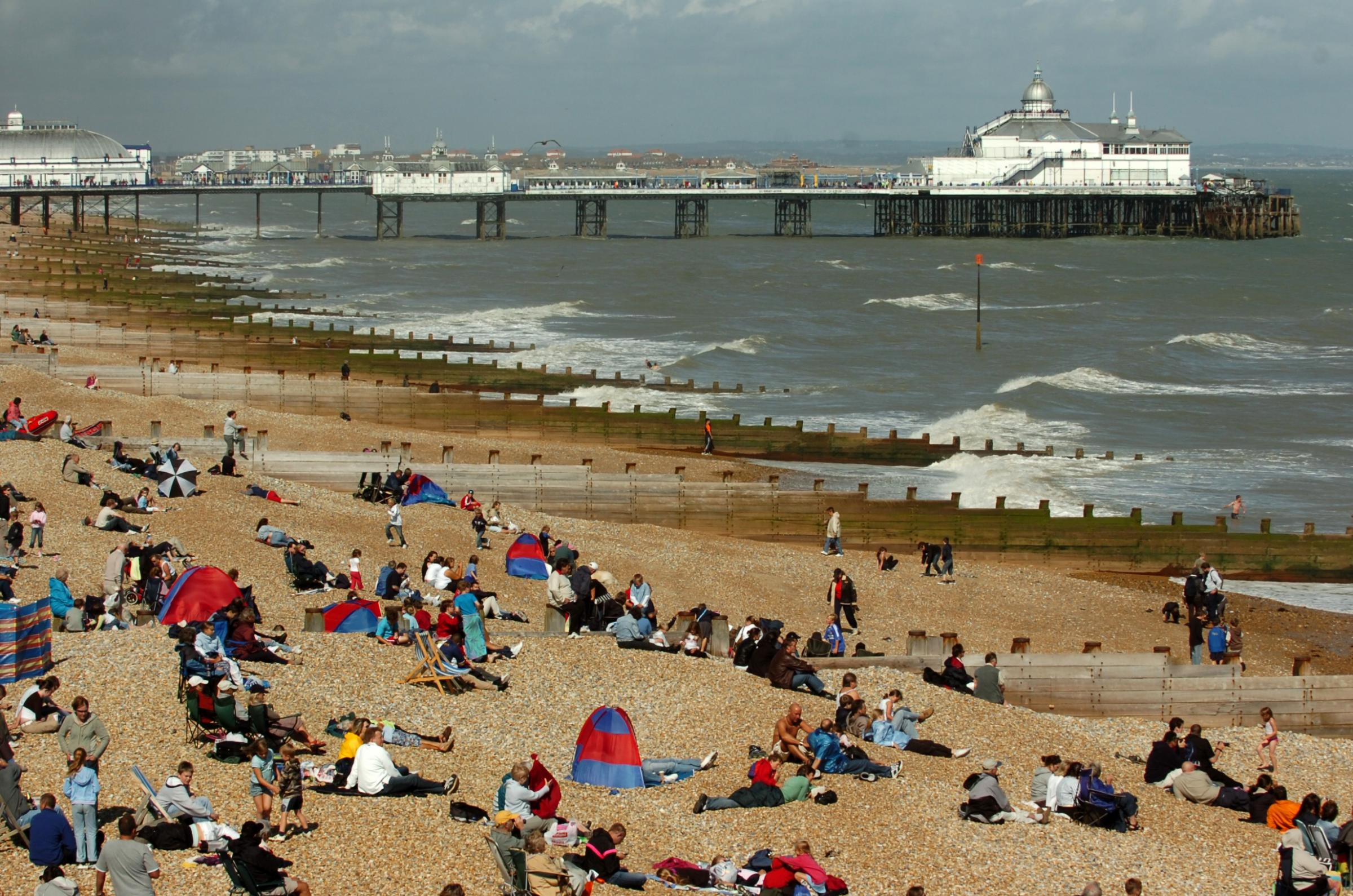 Sunny Eastbourne seafront