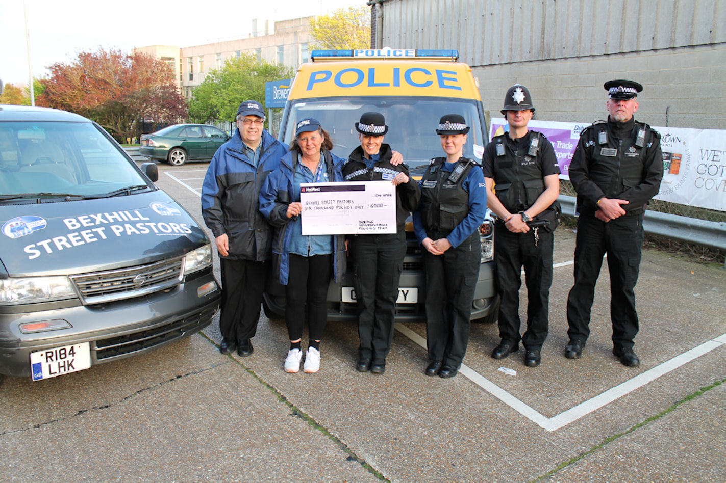 Bexhill Street Pastors benefit from £6,000 donation
