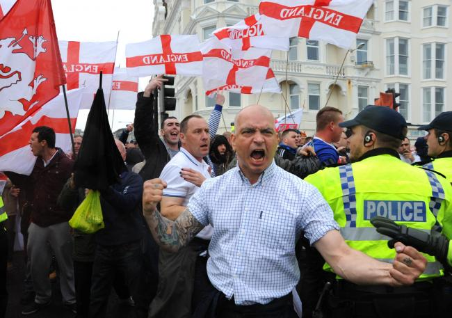 A previous nationalist rally held in Brighton staged by March for England