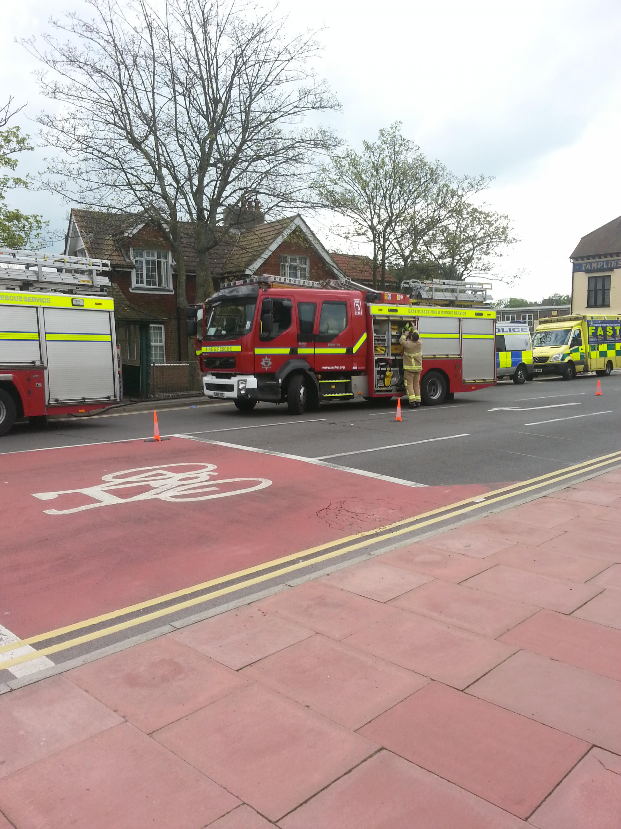 The scene in Ditchling Road (c) Sam Evans