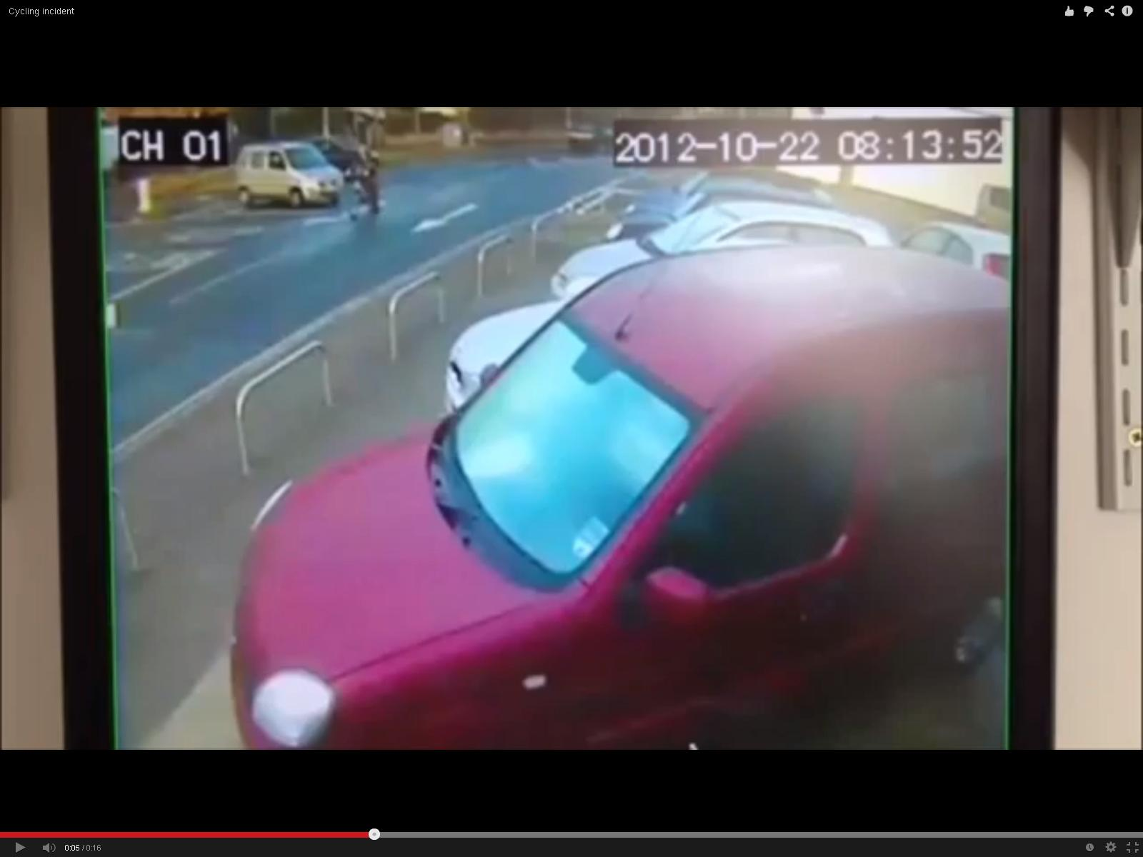 CCTV footage of moment car crashed into young cyclist