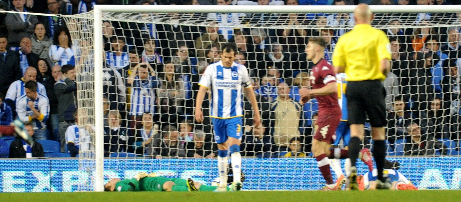 Tomasz Kuszczak is flat out after Derby's second goal - but can Albion pick themselves up?