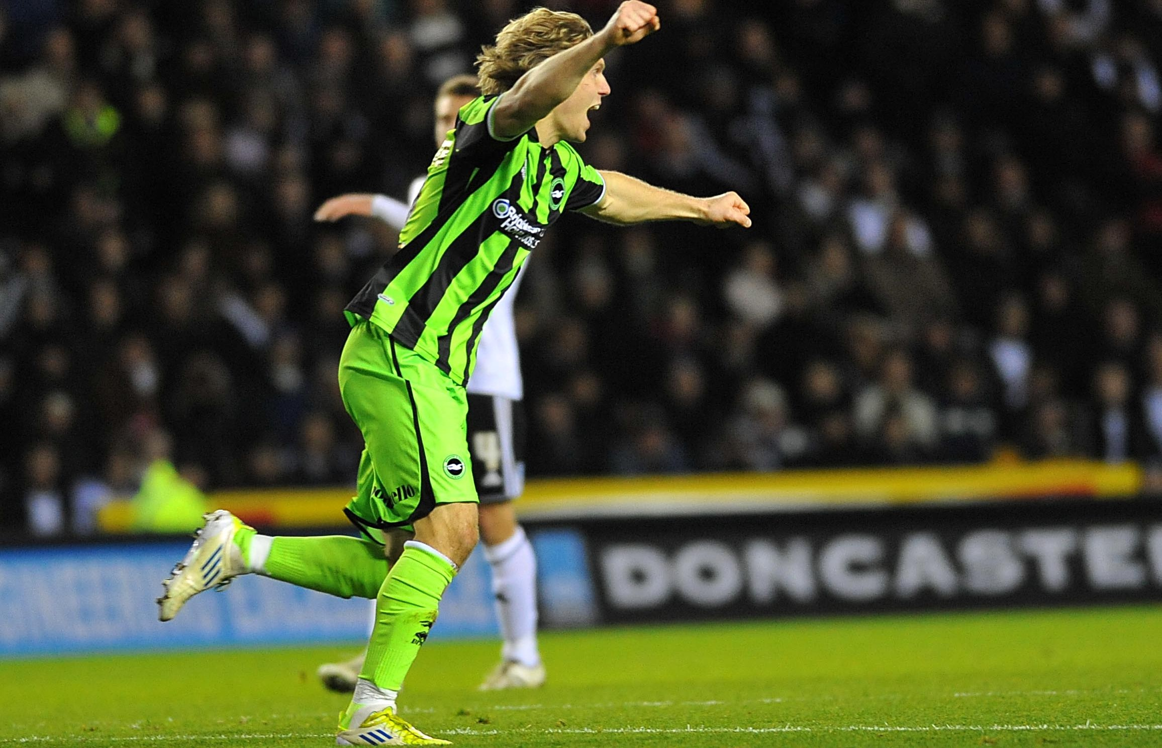 Craig Mackail-Smith celebrates his winner at Derby two seasons ago