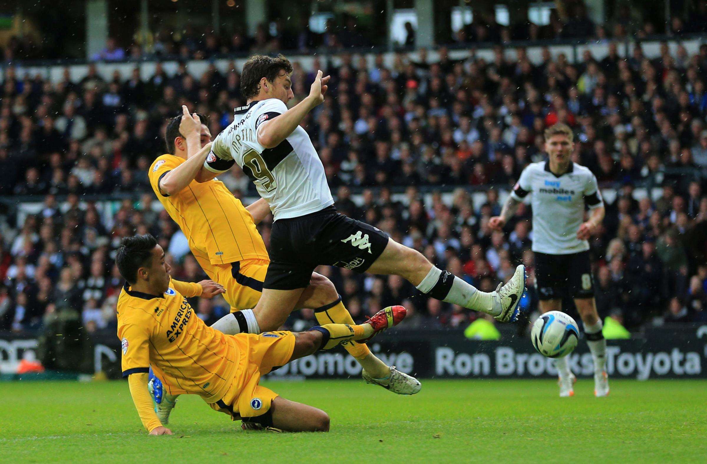Chris Martin scores for Derby today