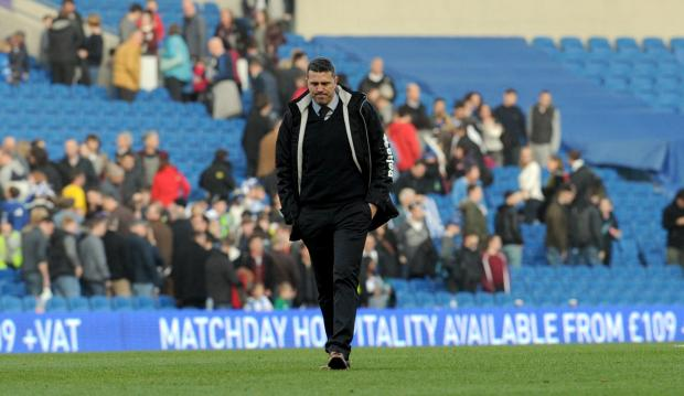 Oscar Garcia has walked away from Albion