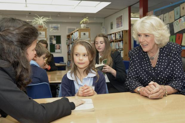 The Duchess of Cornwall with seven-year-old Anna Clementine.