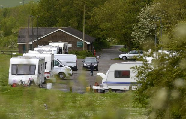 Events at risk as travellers set up their camp