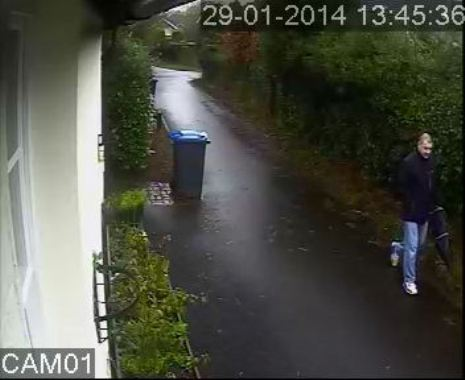 Man sought after being captured on CCTV