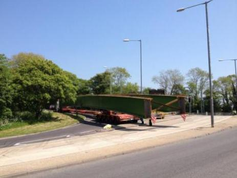 Wide-load lorry blocks A27 Polegate bypass