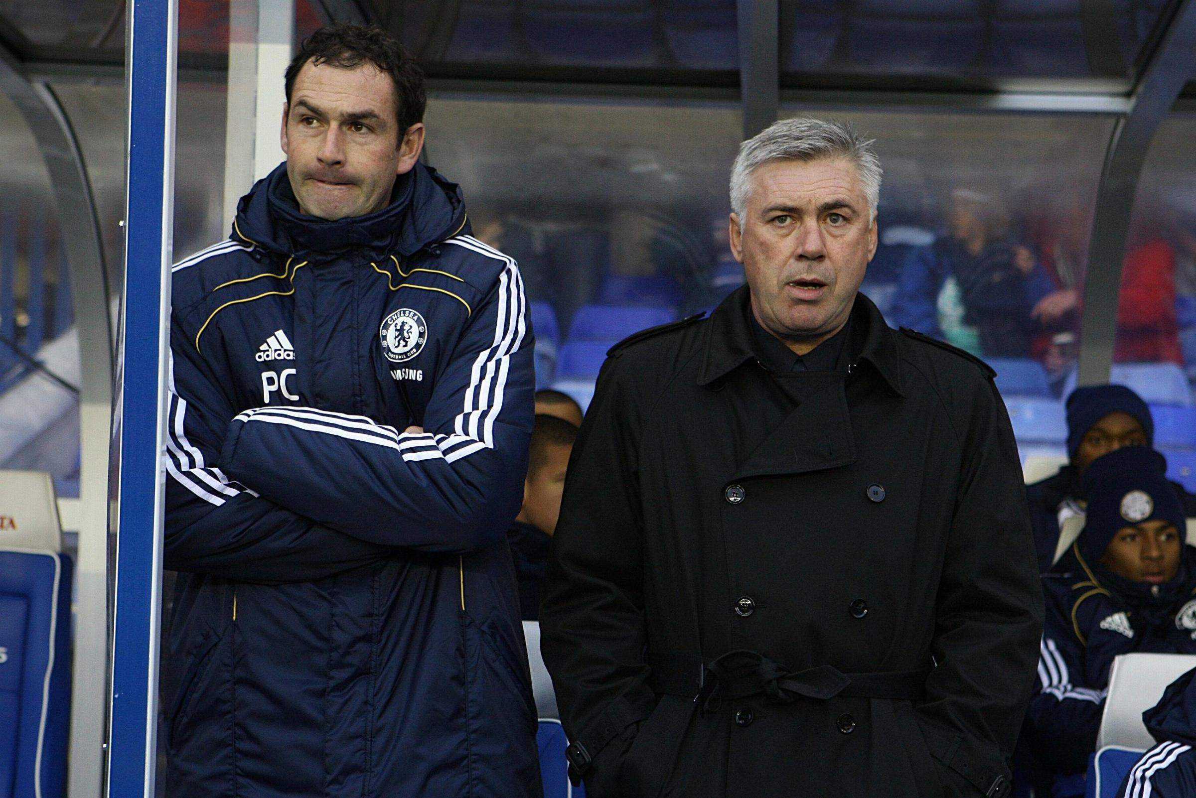 Paul Clement, left, says he is happy at Real Madrid