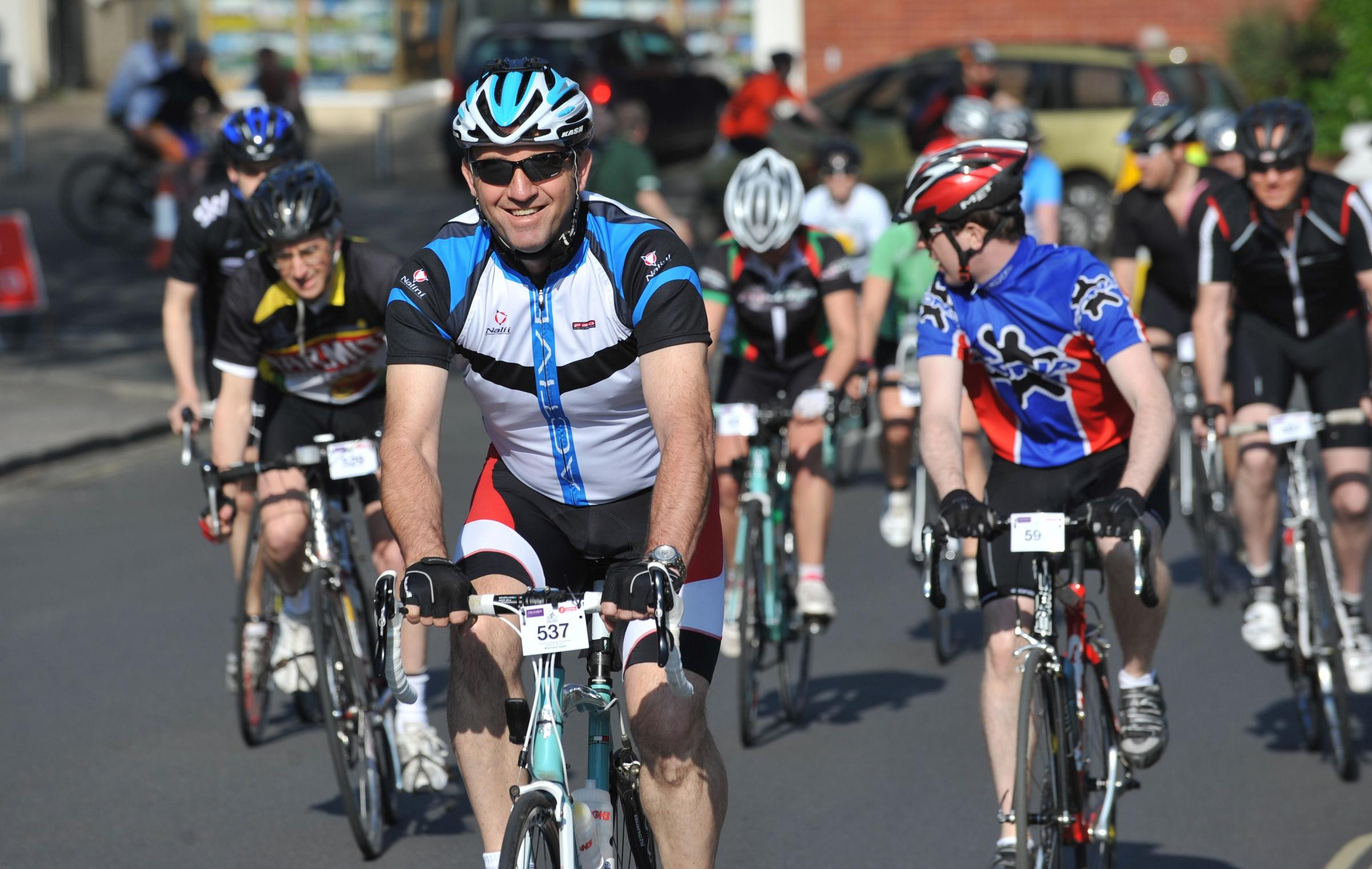 Hundreds of cyclists gather for charity ride