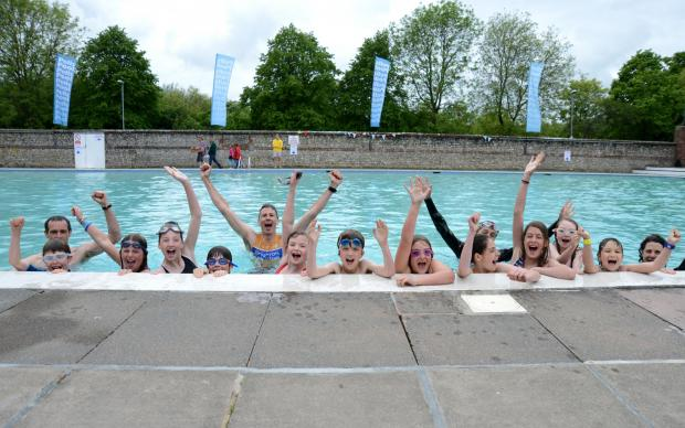 Oldest pool makes splash on reopening