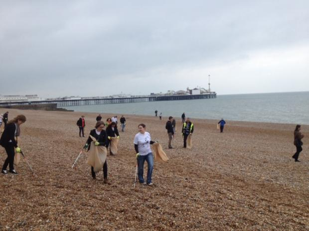 Big  Beach Clean Up gets under way