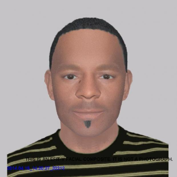 Efit of the man believed to be known as Rola Benwar, a Zimbabwean national.
