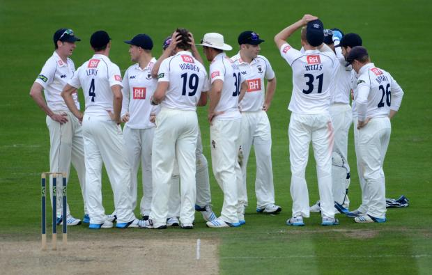 Sussex celebrate as Matt Hobden strikes this morning