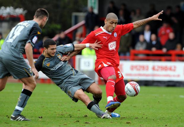 Leon Clarke had a previous loan spell at Crawley