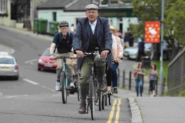 The Argus: Cyclists don vintage wear for retro ride