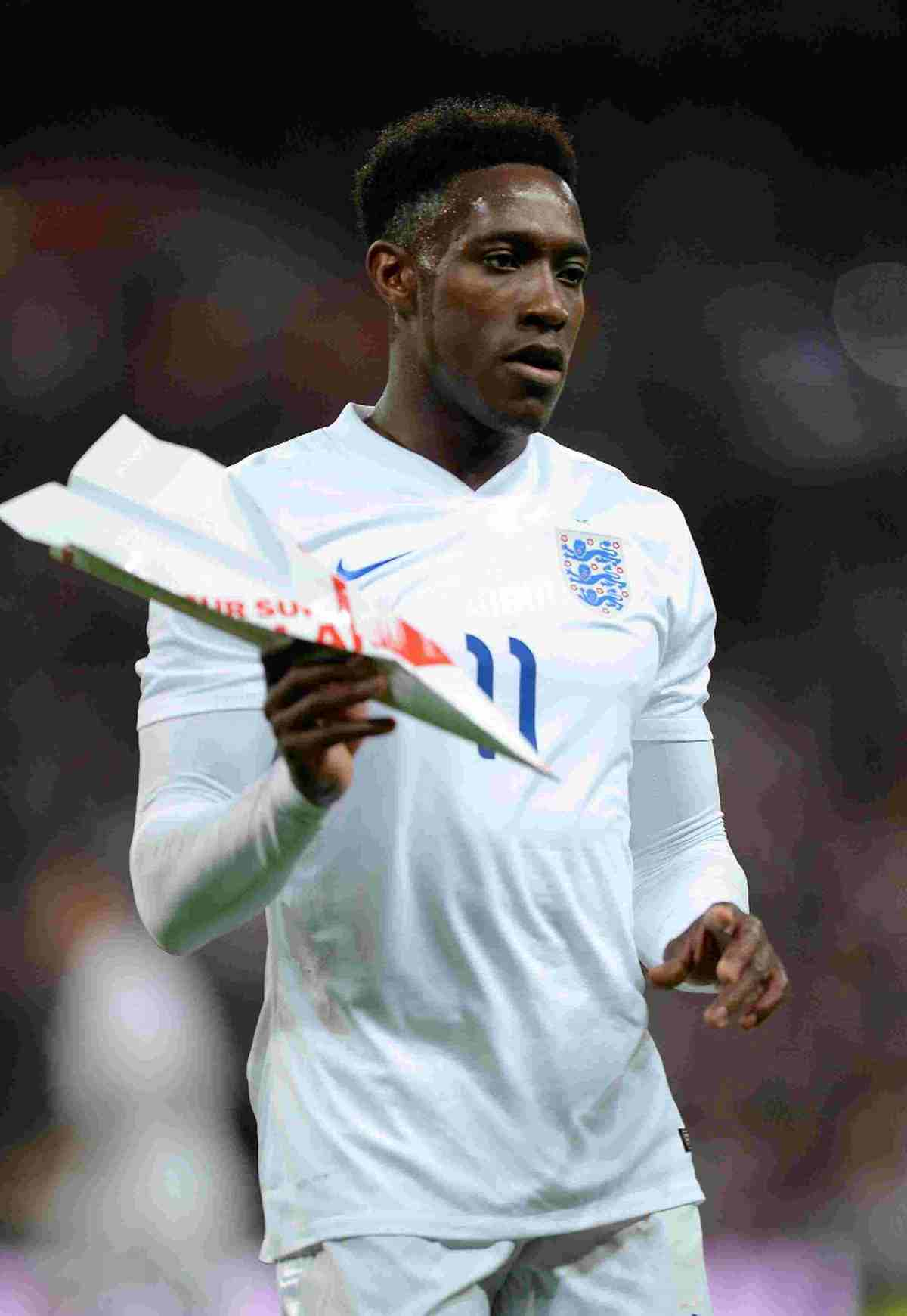 England's Danny Welbeck with on the  Wembley Pitch