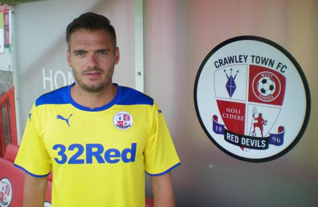 Ryan Dickson at Crawley yesterday