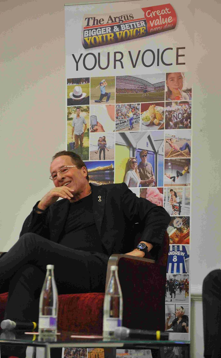Crime author Peter James meets fans in Brighton