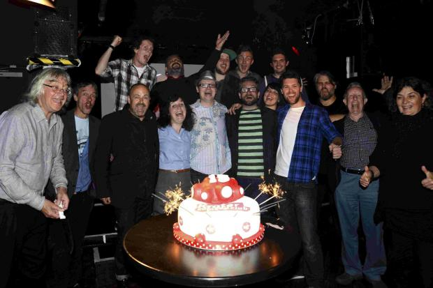 Cake and comedy for club's anniversary