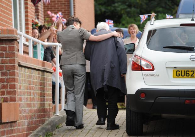 War veteran Bernard Jordan arrives home