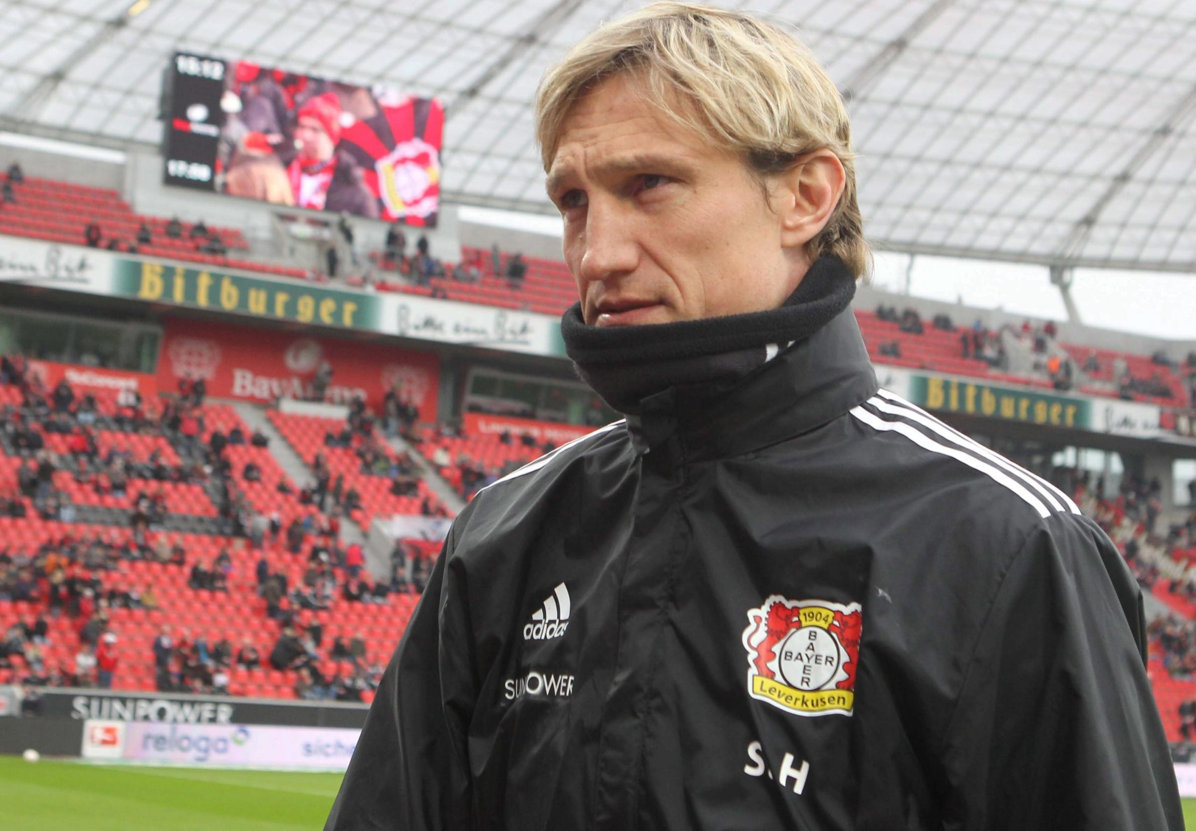 Sami Hyypia during his time in charge of Bayer Leverkusen. Pic by Andreas Pohl/Bild Zeitung
