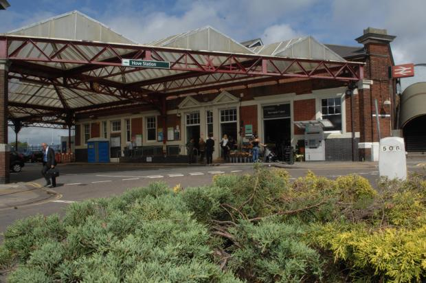 Rail passenger collapses on station platform