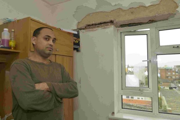 Khalid Baalawi of Highden, Brighton, is unhappy with the council over lack of repairs to his flat.