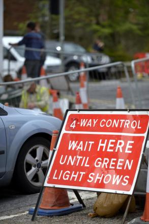 Late-running roadworks cause rush-hour traffic chaos